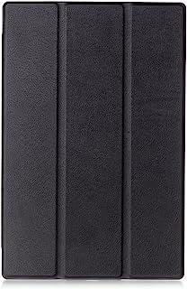 【Trocent】Sony Xperia Z4 Tablet ケース docomo SO-05G / au SOT31 ケース スタンド機能付き 三つ折型 超薄型 内蔵マグネット開閉式 PUレザーカバー スリープ喚起機能付け (Z4 Tablet, 三つ折ブラック)