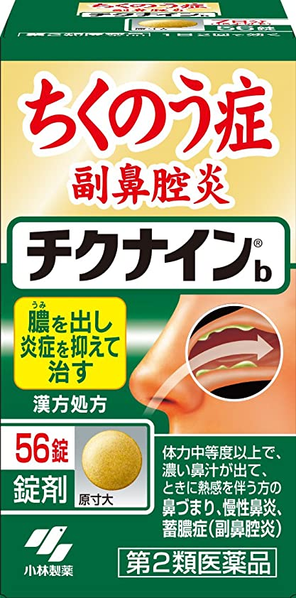 例外鰐ガラス【第2類医薬品】チクナインb 56錠