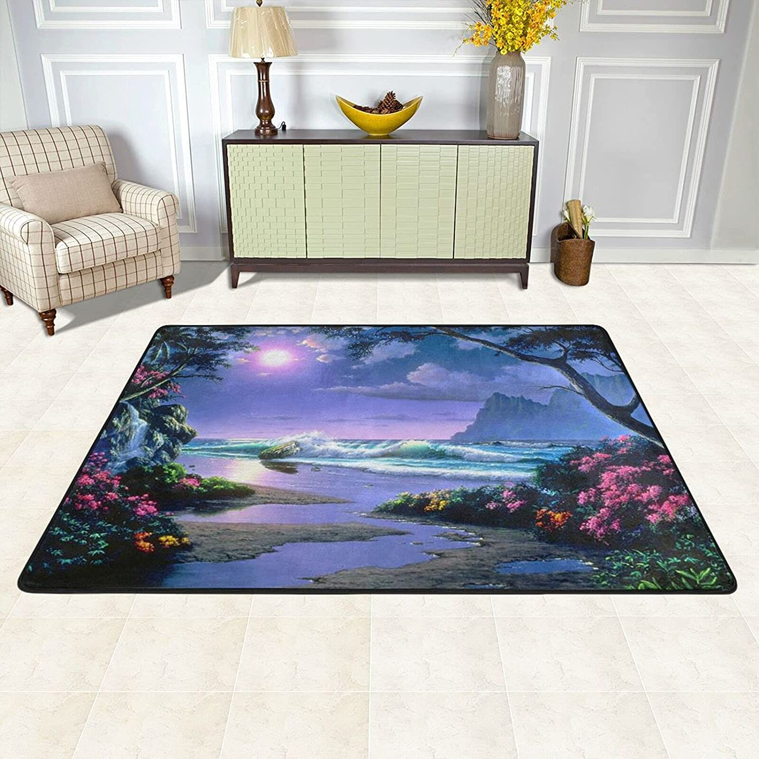 Area Rugs Max 89% OFF Portland Mall Pad for Bedroom Living Moon Room S Paradise Beautiful