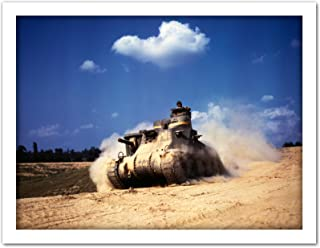 Palmer War WWII USA M3 Lee Tank 1942 Photo Artwork Framed Wall Art Print 18X24 Inch