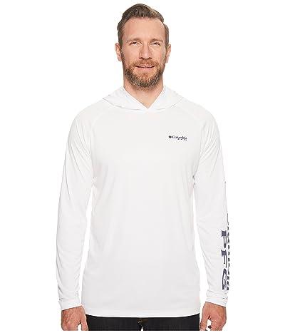 Columbia Big Tall Terminal Tackle Hoodie (White/Nightshade Logo) Men