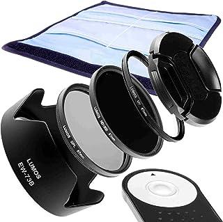 Juego de accesorios Lumos para tu Canon Kit EOS 70d 700d 750d etc. y EF-S 18–135IS STM. Con parasol EW-73B disparador remoto RC de 6ND filtro UV filtro polarizado y tapa de objetivo de 67mm