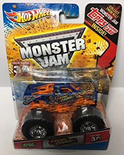 Hot Wheels Monster JAM Stone Crusher Edge Glow 30TH Topps Trading Card Monster Truck