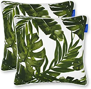 Set of 2 Patio Indoor/Outdoor All Weather Decorative Throw Pillow (18