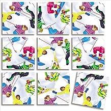 B Dazzle Skiing Scramble Squares 9 Piece Puzzle