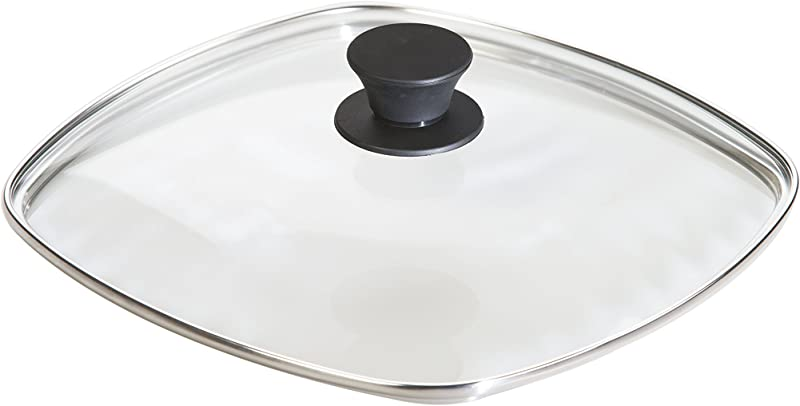 Lodge Square Tempered Glass Lid 10 5 Inch Fits Lodge 10 5 Inch Square Cast Iron Skillets And Grill Pans