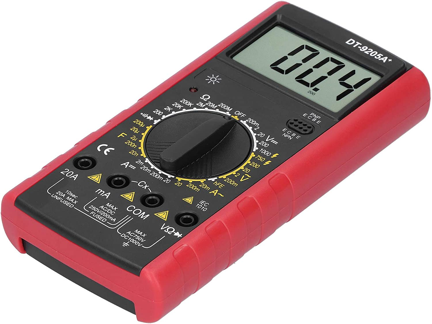 LCD Digital Multimeter Overload Protection DT9205A DC/AC Voltage Current ABS Frequency Tester for Families