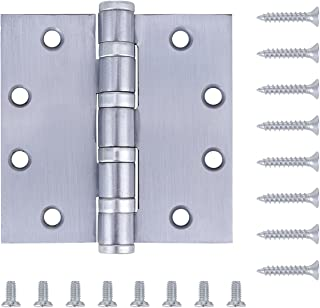 Pack of 3 - Commercial Door Hinge (Reversible) - 4.5 Inch - Satin Chrome Finish - 4 Bearing Heavy Weight - by Dependable Direct