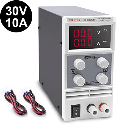 Eventek KPS310D Alimentatore da Laboratorio DC Regolabile Stabilizzato, Alimentatore da Banco 0 - 30V / 0 - 10A - Confronta prezzi
