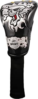4Colors Skull Head Golf cover Headcover for Driver 3#Fairway Wood 5#Fairway Wood Golden Spots universal brand (Black)