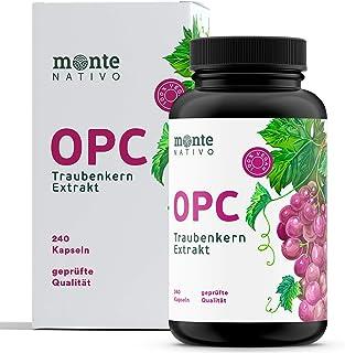 OPC Traubenkernextrakt MonteNativo – 240 Kapseln – 800mg Extrakt mit 528mg..
