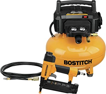 BOSTITCH Air Compressor Combo Kit with Brad Nailer, 1-Tool (BTFP1KIT): image