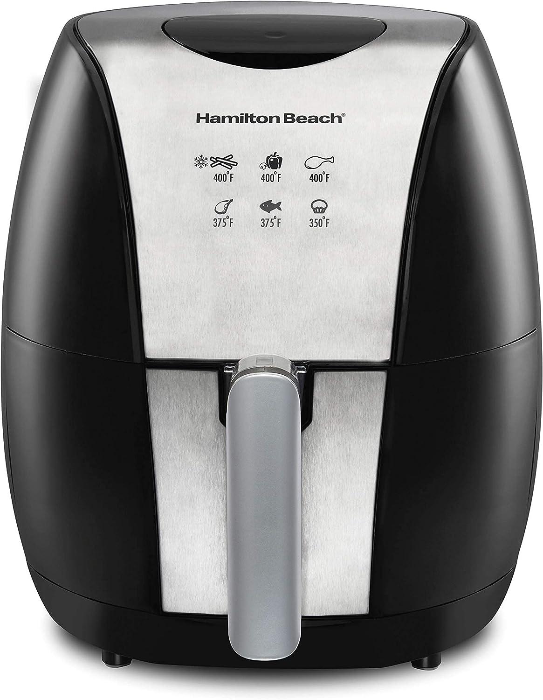 Hamilton Max 48% OFF Beach 3.2 Quart Digital Air Presets Fryer 6 Ranking TOP14 with Oven