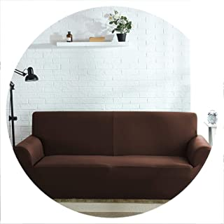 High Grade Cover for Sofa Furniture Armchair Modern Living Room Sofa Cover Stretch Elastic Couch Slipcover Cotton 1/2/3/4 Seater,Coffee,3seater 190-230cm
