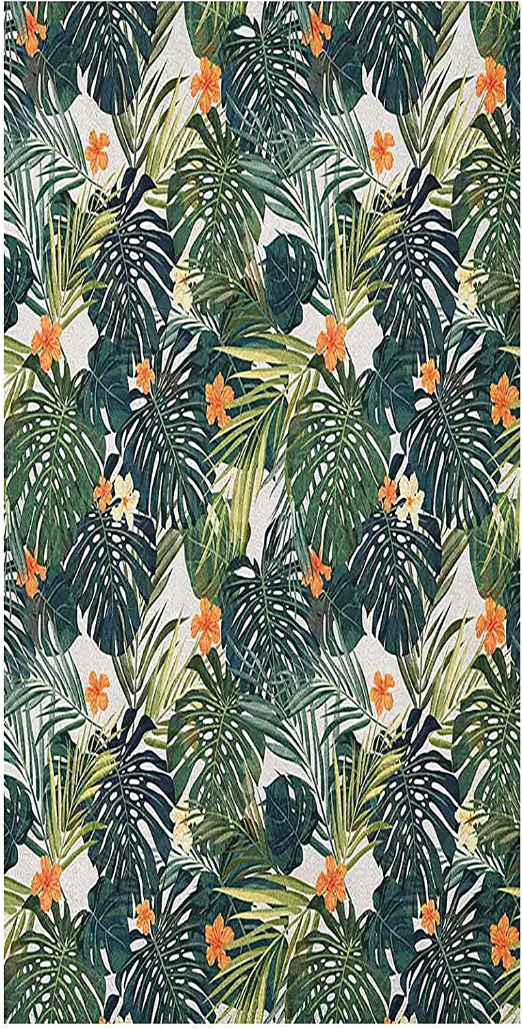 3D Floral Same day shipping Window Courier shipping free Film Botanic Hawaiia Tropic Leaves and Flowers
