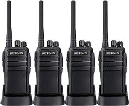 Case of 4,Retevis RT21 Walkie Talkies Adults Rechargeable, Two Way Radios Long Range,16..