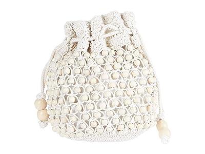 Madewell Beaded Drawcord Clutch (Natural) Handbags