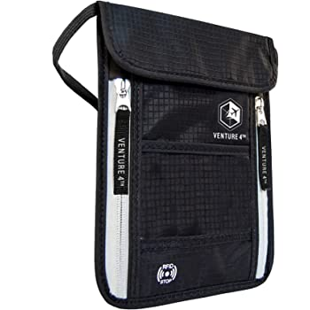 Travel Neck Pouch Neck Wallet with RFID Blocking – Passport Holder to Keep Your Cash And Documents Safe – Get Peace Of Mind When Traveling