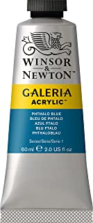 Winsor & Newton Galeria Acrylic Paint, 60ml tube, Phthalo Blue