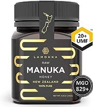 Lamohka Raw Manuka Honey from New Zealand, UMF 20 Certified 8.8oz, for Skin, Food - Natural, Unpasteurized Honey from Nectar of Manuka Tree Flower - Multi-functional, Traceable New Zealand Honey