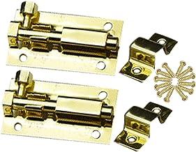 2 Pack Deur Security Slide Latch Lock, Deurvat Bout Klink, om u veilig en privé te houden, Roestvrij stalen deurvergrendel...