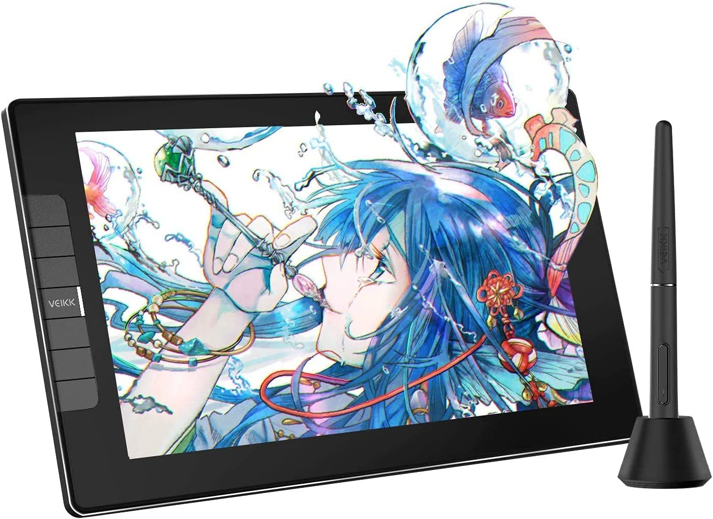 VEIKK VK1200 11.6 inch Full-Laminated Drawing Monitor, IPS HD Screen Drawing Tablet with Art Glove and 8192 Levels Tilt Pen, Graphic Digital Monitor Compatible with PC/Mac for Teach Anime(120%sRGB)