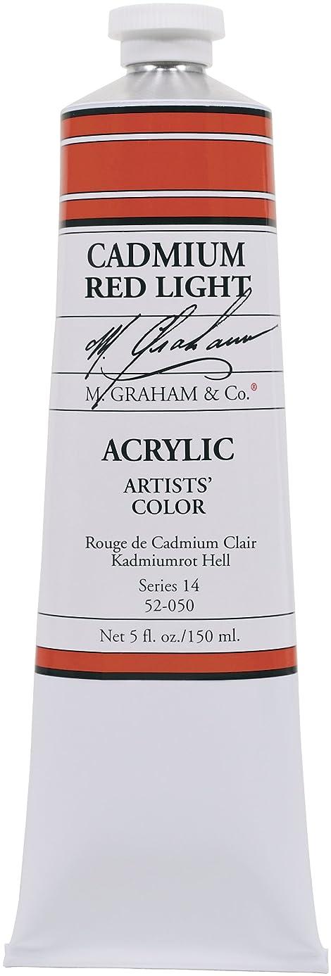 M. Graham & Co. 5-Ounce Tube Acrylic Paint, Cadmium Red Light
