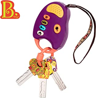 B. Toys – FunKeys Toy – Funky Toy Keys for Toddlers and Babies – Toy Car Keys and Purple Remote with Light and Sounds –100% Non-Toxic and BPA-Free