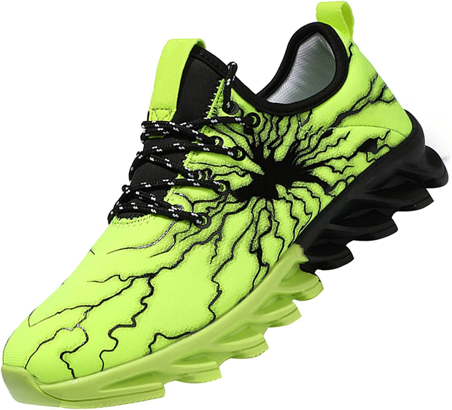 MUOU Men's Road sale Running Shoes Sneaker Sport Athletic Max 75% OFF Lightweight