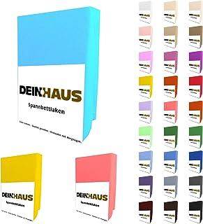 dh dein. haus Drap housse en tissu éponge, coton, Coton, ivoire, 90 x 200 cm