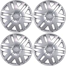 BDK KT-997-16_AMZKING Hubcaps for Toyota Sienna-16 Wheel, Silver Replica Cover, OEM Replacement (4 Pieces)