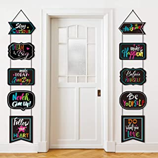 Classroom Decoration Motivational Banner Poster Inspirational Cards Motivation Porch Sign Positive Sayings Accents Cutouts...