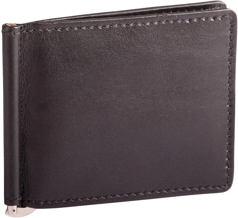 Picard Toscana 8791 Herren Clip-Geldbörse Echtes Leder Geldklammer 11x9x1 cm (BxHxT), Farbe Schwarz B002PO046O