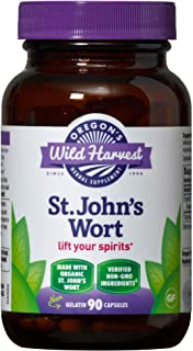 Oregon's Wild Harvest St. John's Wort Capsules, Non-GMO Organic Herbal Supplements (Packaging May Vary), 90 Count