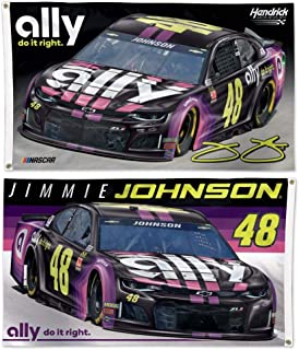 Win-craft Jimmie Johnson 2019 Ally Two Sided NASCAR 3x5 Flag