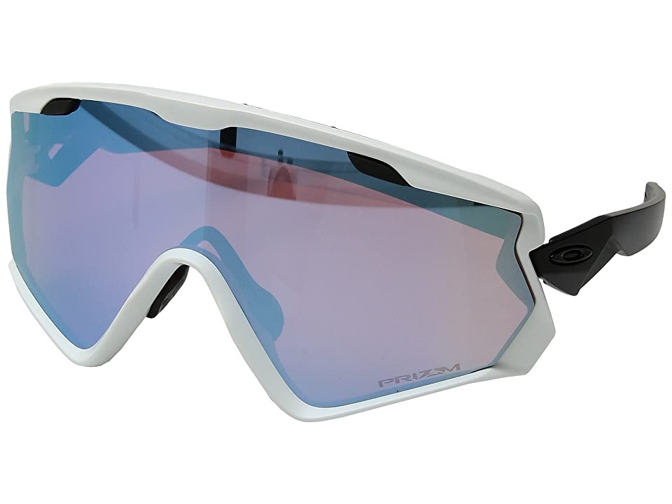 Oakley Wind Jacket 2.0 Snow (Matte White w/ Prizm Snow Sapphire) Athletic Performance Sport Sunglasses