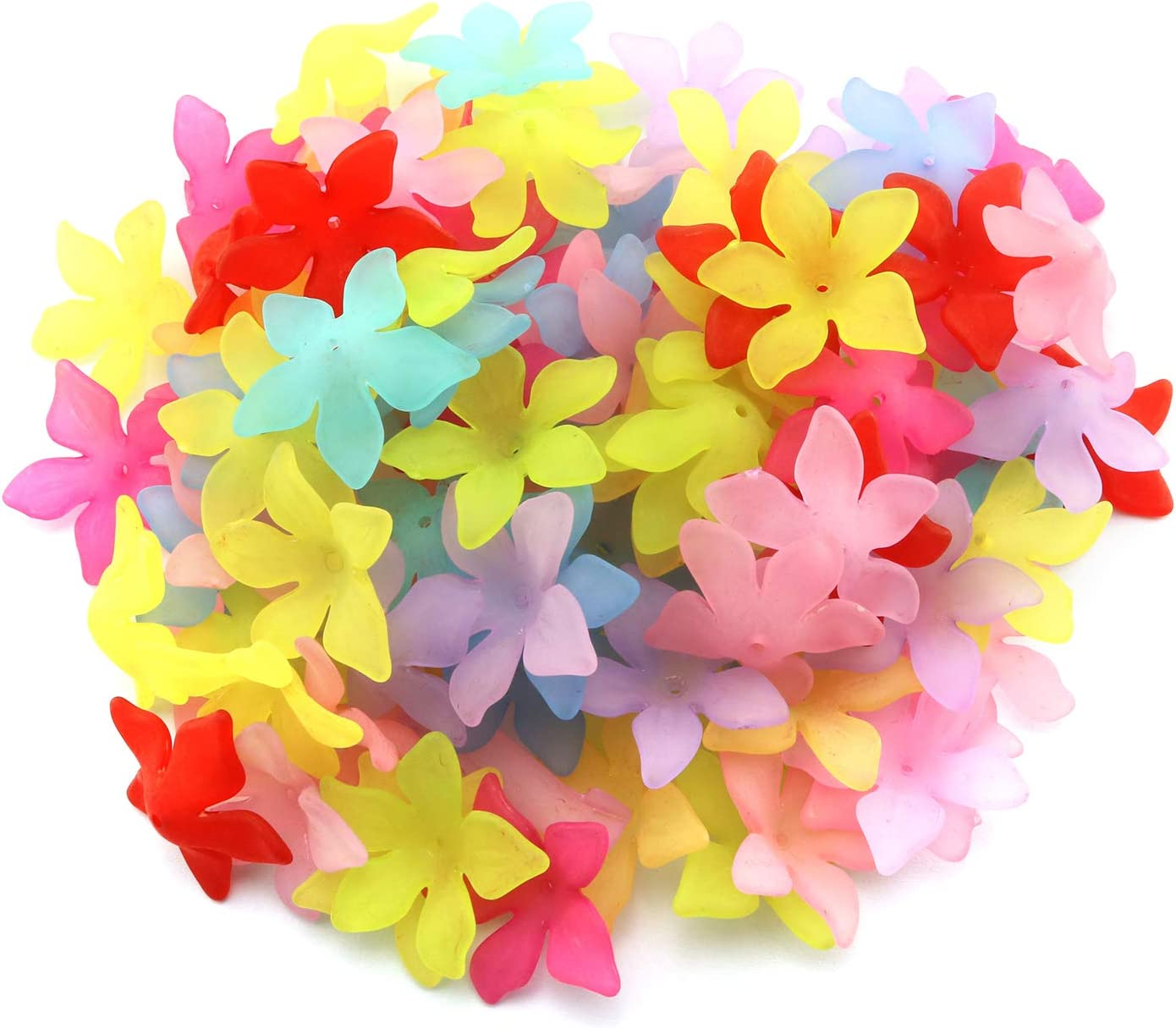 Paper Beads Pink Flowers /& Green Leaves Lot Loose Paper Beads Tube Beads Handmade Jewelry Supplies Necklace Bracelet Supplies