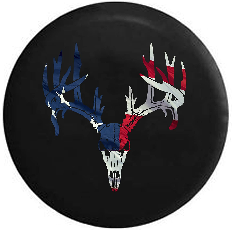 Deer Antlers New arrival Skull Spasm price Waving American Cover Spare Tire Flag Hunting