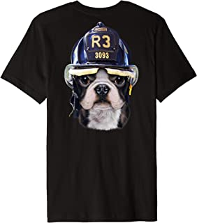 Cute French Bulldog wearing Firefighter Helmet Premium T-Shirt