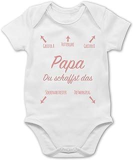 Shirtracer Strampler Motive - Papa du schaffst das Rosa - Baby Body Kurzarm für Jungen und Mädchen