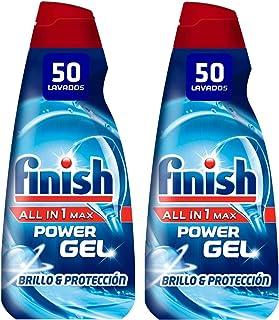comprar comparacion Finish All in 1 Max Power Gel Brillo & Protección Detergente Gel para el Lavavajilla, 2 unidades - 100 lavados