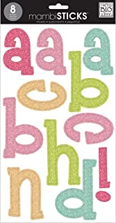me & my BIG ideas mambiSTICKS Themed Stickers, Lower Case Alphabet and Numbers, Pastel Glitter (STL-13)