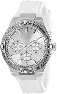 Invicta Women's Bolt Stainless Steel Quartz Watch with Polyurethane Strap, White, 22 (Model: 28909)