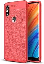 DOHUI Xiaomi Mi Mix 2S Case, Ultra Slim Shock Absorption Soft TPU Silicone Protective Cover Case for Xiaomi Mi Mix 2S Mobile Phone (Red)