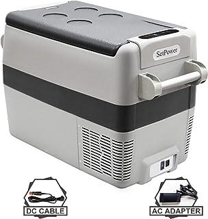Setpower AJ40 42 Quarts Portable Freezer Fridge 12V Cooler, 0℉-50℉, DC 12/24V, AC 110-240V, Car Fridge Compact Refrigerato...