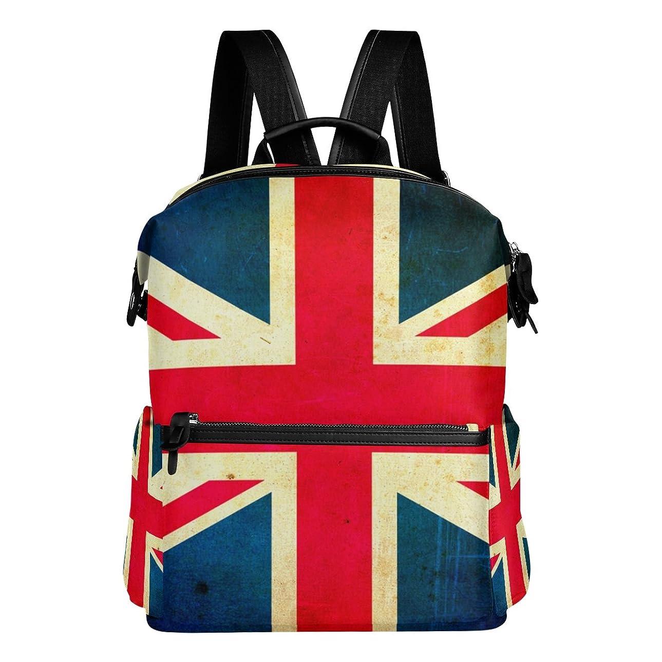 ボックス違反する火星バララ(La Rose) リュックサック 高校生 子供 通学 大容量 かわいい イギリス 国旗 絵柄 リュック レディース 大人 おしゃれ 通勤 軽量 防水 キャンバス バッグ 学生 旅行 収納バック アウトドア デイパック