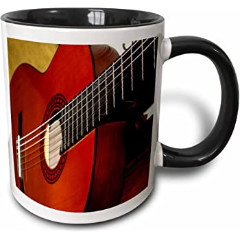 Amazon Com 3drose Mug 62245 4 Digitally Painted Acoustic Guitar In Shadow Two Tone Black Mug 11 Oz Multicolor Kitchen Dining