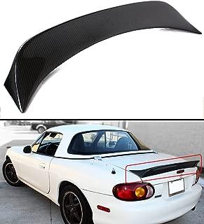Cuztom Tuning Fits for 1999-2005 Mazda Miata NB 2nd Gen Carbon Fiber High Kick Extended Big Trunk Lid Spoiler Wing