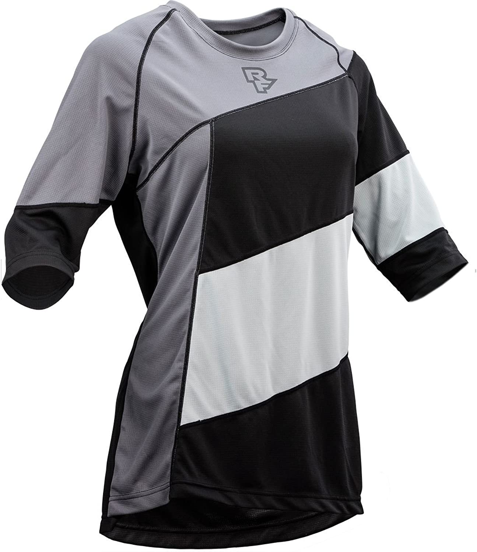 Race Face Khyber Womens 3 4 Sleeve Jersey Grey Black 2019