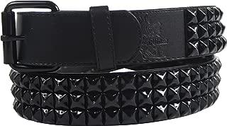 Punk Rock Classic Pyramid Studded Leather Belt by BodyPunks